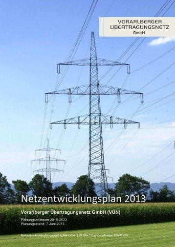 Netzentwicklungsplan 2013 - Vorarlberger Übertragungsnetz GmbH