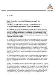 Karlsruhe Stadt Karlsruhe: Energetische Stadtsanierung in Alt ...