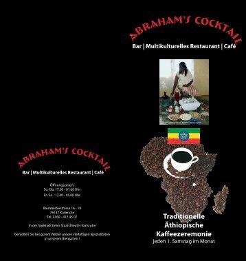 Flyer Traditionelle Äthiopische Kaffeezeremonie als PDF-Dokument