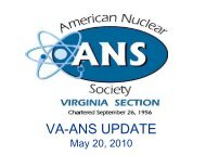 VA-ANS Update - Local Sections