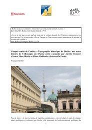 Compte-rendu de l'atelier « Topographie historique ... - Sciences Po