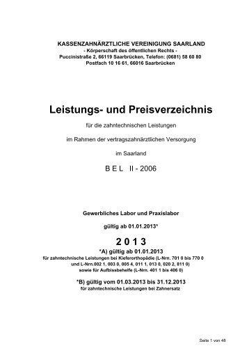 Leistungs- und Preisverzeichnis