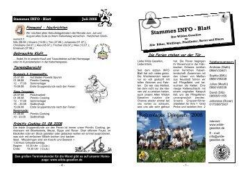 stammes info 07-08 - Wilde Gesellen in Coburg