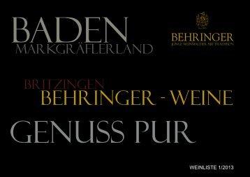 Aktuelle Weinliste - Behringer-wein.de