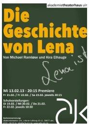 Download Begleitheft - Die Geschichte von Lena - ADK Ulm
