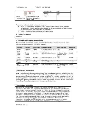 Invention Disclosure Form in Acrobat (.pdf) - Michael N. Haynes, PLC