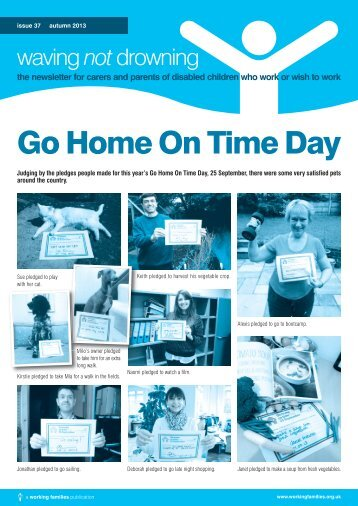 WND newsletter Autumn 2013 - Working Families