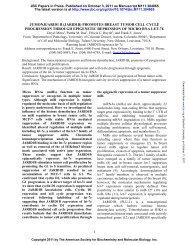 (jarid1b) promotes breast tumor cell cycle progression through ...