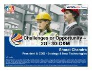 Sharat Chandra at 3G India International Conference held - GTL Limited