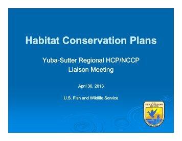 Habitat Conservation Plans - Yuba Sutter RCP