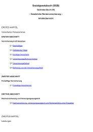 Inhaltsverzeichnis des SGB VI - Frank Jungwirth