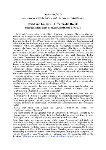 Recht und Grenzen – Grenzen des Rechts