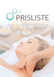 PRISLISTE - Slagelse Hudpleje Klinik