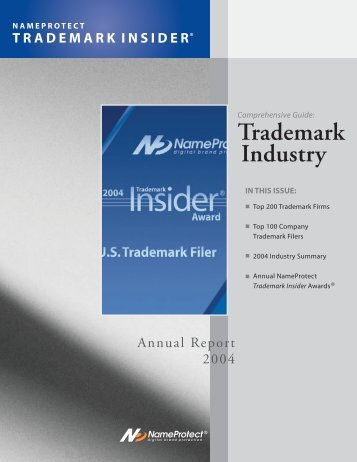 NameProtect Trademark Insider - Greenberg Traurig LLP