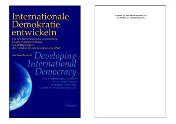 Internationale Demokratie entwickeln International Democracy