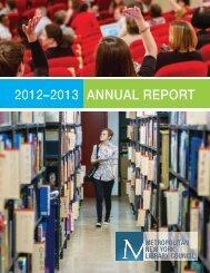 2012–2013 annual report - Metropolitan New York Library Council