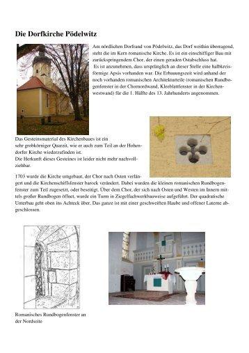Die Dorfkirche Pödelwitz