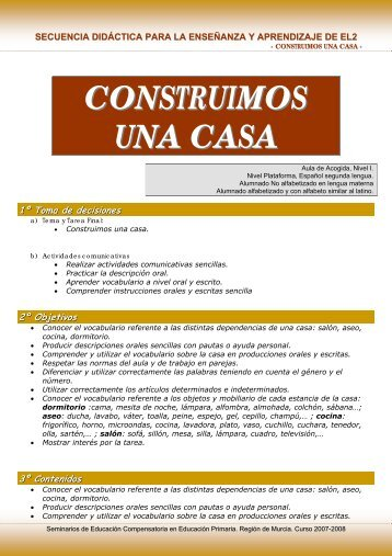 CONSTRUIMOS UNA CASA - Atención a la diversidad MurciaEduca