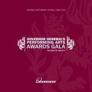 2013 Gala program - Governor General's Performing Arts Awards