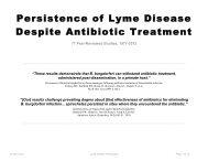 Persistence of Lyme Disease Despite Antibiotic Treatment - Lyme Info