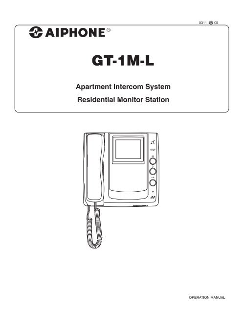GT-1M-L Operation Manual - Aiphone on