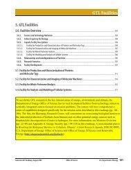 GTL Facilities - Genomics - U.S. Department of Energy