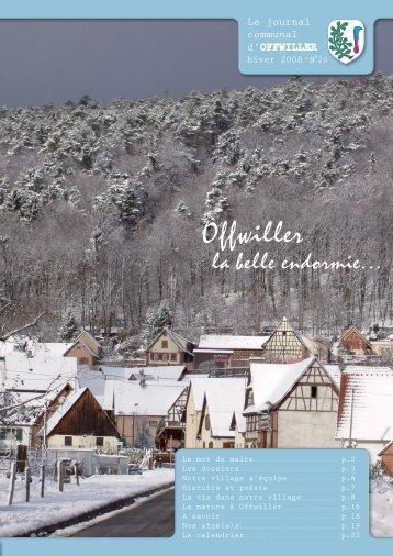 Journal communal - Hiver 2008 - Offwiller