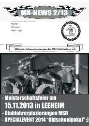 Clubzeitung 2-2013 - MSC-Wolfskehlen