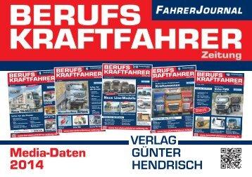 Mediadaten - Verlag Günter Hendrisch GmbH & Co. KG
