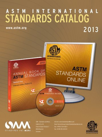 ASTM Catalog 2013 - standards and more…