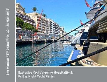 The Monaco F1 ™ Grand Prix, 23 - 26 May 2013 ... - Set Piece Events