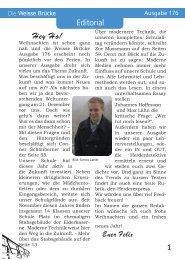 Ausgabe 176 - Die Weisse Brücke