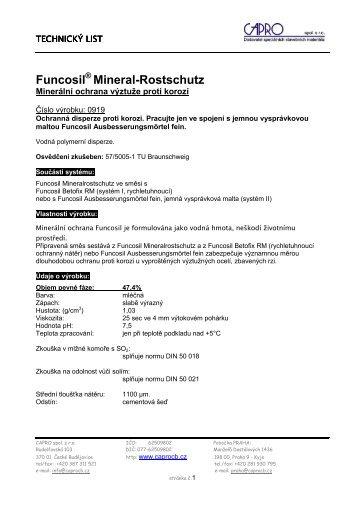 Funcosil Mineral-Rostschutz - CAPRO spol. s ro