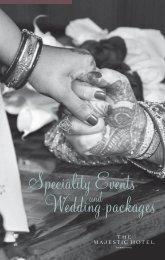 Speciality Weddings brochure - Puma Hotels