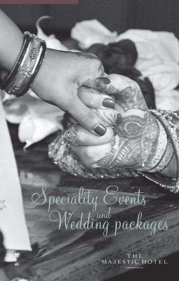 Speciality Weddings brochure - Puma Hotels