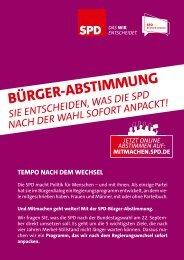Bürger-Abstimmung - Mitmachen - SPD