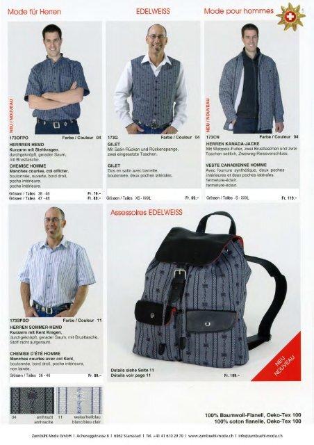 Katalog Edelweiss - Zumbühl Mode