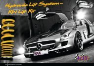 KW Lift Kit Hydraulic Lift System– - KW Suspensions