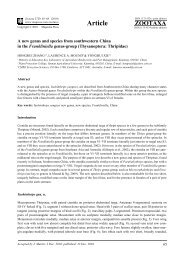 A new genus and species from southwestern China in the ...