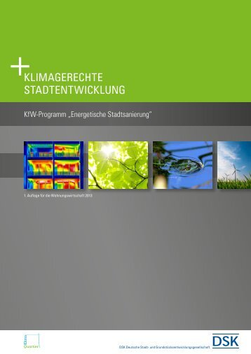 DSK-Broschüre KlimaQuartier für die Wohnungswirtschaft