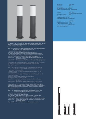 IP 65 Schutzklasse: I bzw. II Hergestellt nach DIN VDE ... - Wendler