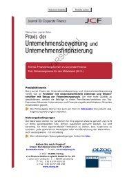 Fachliteratur - Börsensegmente für den Mittelstand
