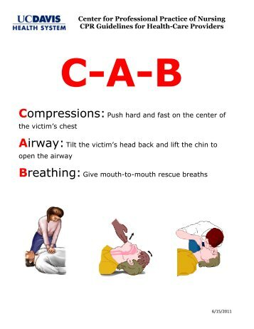 Center for Professional Practice of Nursing CPR Guidelines for ...