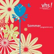 Sommerprogramm (PDF) - Volkshochschule Heidelberg