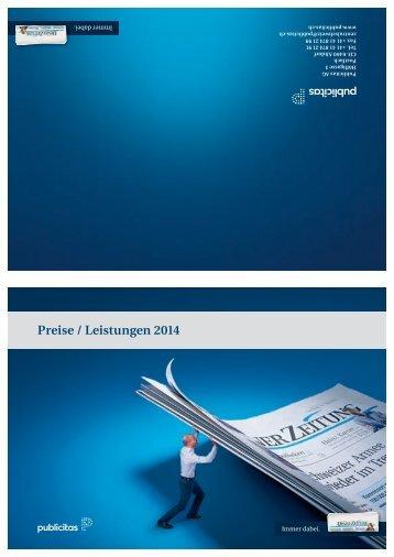 Preise / Leistungen 2014 - Neue Luzerner Zeitung