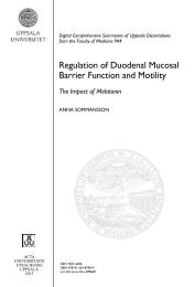 Regulation of Duodenal Mucosal Barrier Function and Motility - DiVA