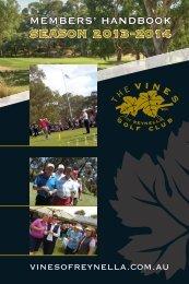 SEASON 2 013 - 2014 - The Vines Golf Club of Reynella