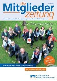 Mitgliederzeitung Ausgabe 2 - RB Reute-Gaisbeuren