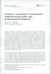 Teachers' conceptions of assessment: implications for policy and ...
