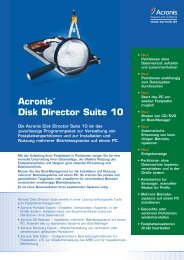 AcronisTM Disk Director Suite 10